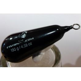 Plomb arlesey plastifié noir 130 gr.