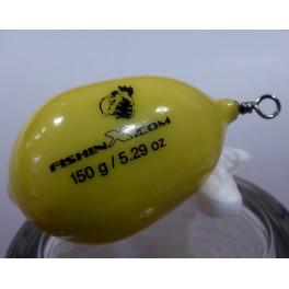 Plomo huevo amarillo plastificado